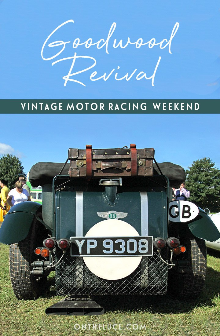A guide to the Goodwood Revival vintage motor racing event in Sussex, England – buying tickets, what to wear, how to get there, where to stay and more #Goodwood #Sussex #motorracing #vintage