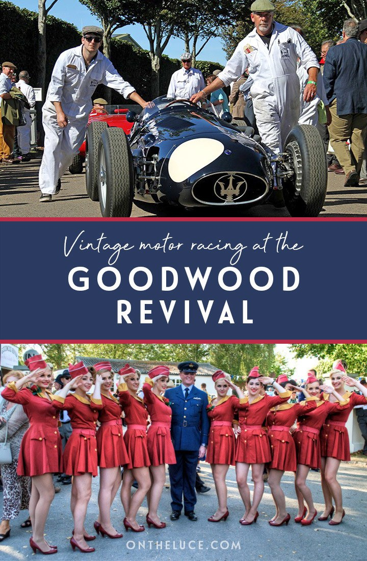 A trip back in time at the Goodwood Revival vintage motor racing event in Sussex, England – including buying tickets, what to wear, how to get there, where to stay and more #Goodwood #Sussex #motorracing #vintage