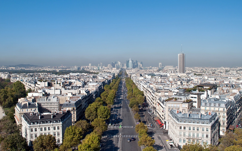 Views over Paris from the Arc de Triomphe