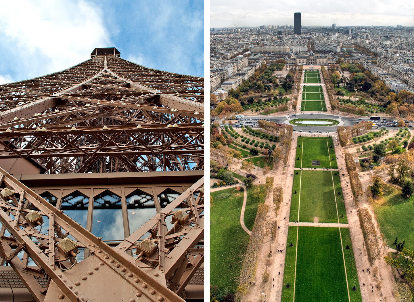 Views from the Eiffel Tower in Paris