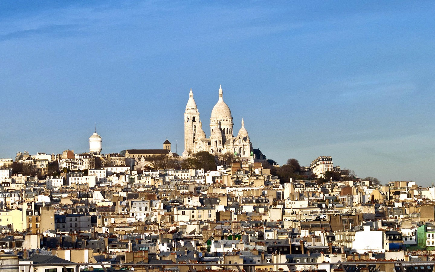 Sacre Coeur view from the rooftop of Galeries Lafayette Haussmann, Paris