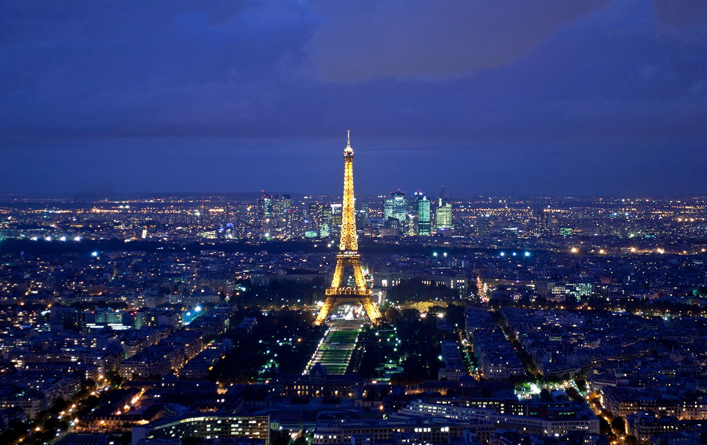 View of the Eiffel Tower from the top of the Montparnasse Tower, Paris