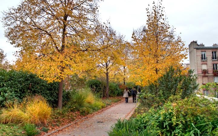 Autumn leaves on the Promenade Plantée