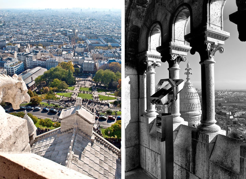 Views of Paris from Sacre Coeur Basilica