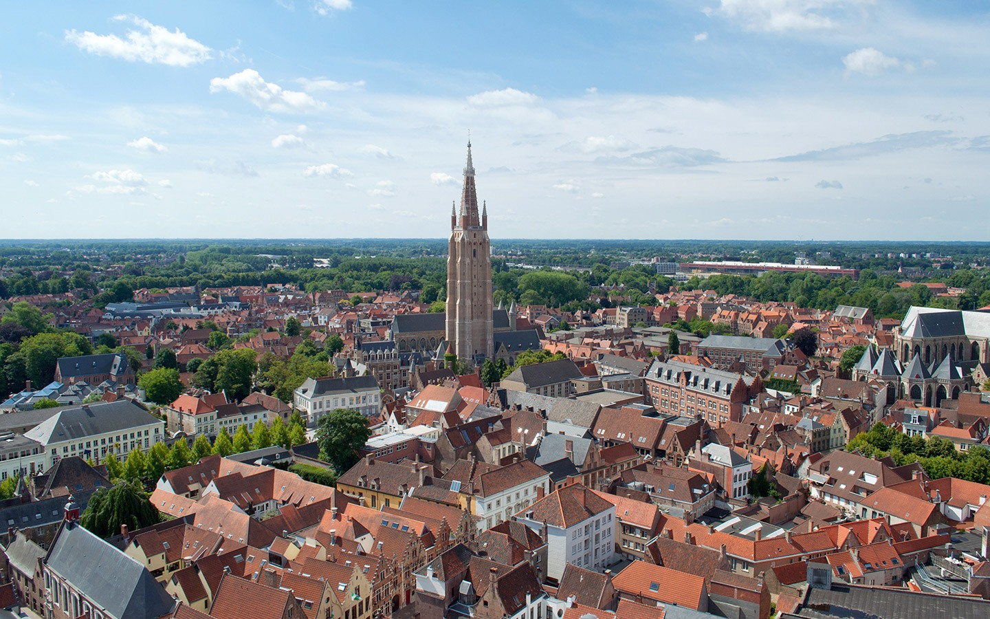 Views from the top of th Belfort tower