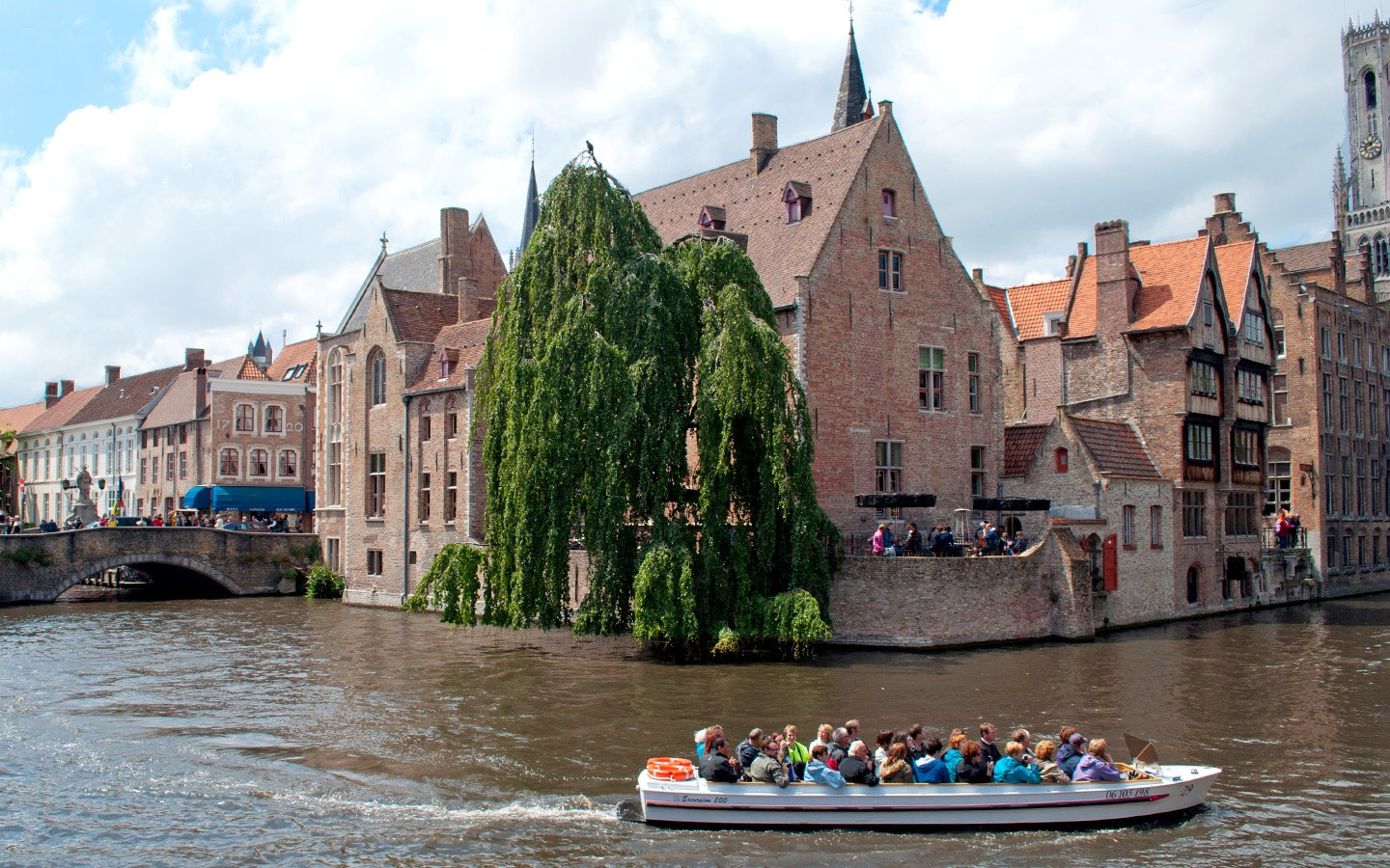 Views of the Bruges canals from Rozenhoedkaai
