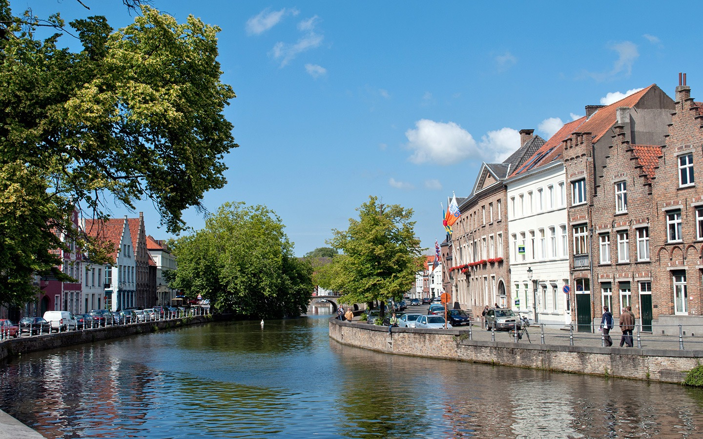 Along the canals in Bruges