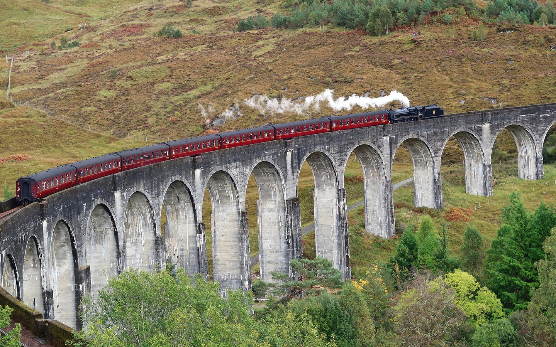 The Glenfinnan Viaduct in Scotland