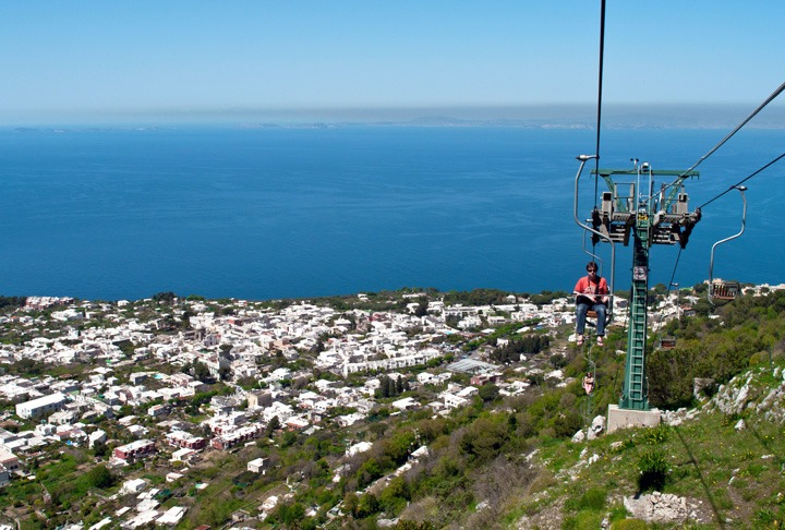 Chairlift to Monte Solaro