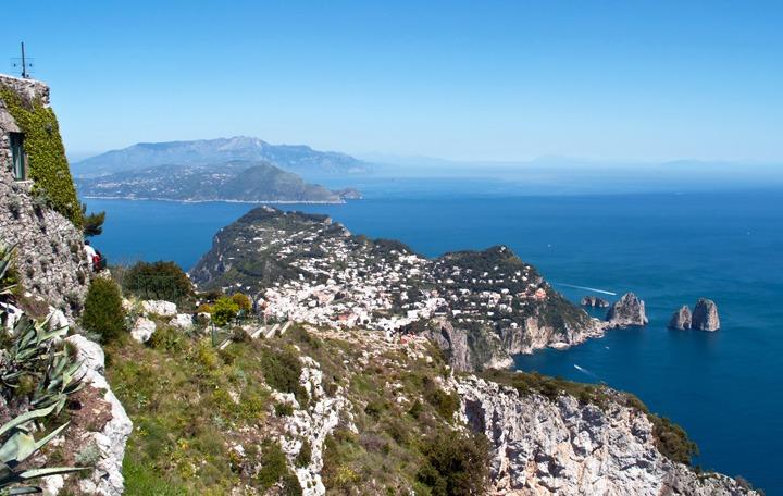 Panoramic views across Capri
