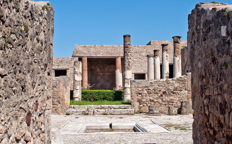 Villa at Pompeii archaeological site