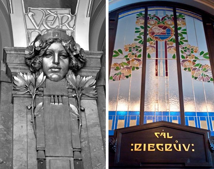 Art Nouveau details at Municipal House