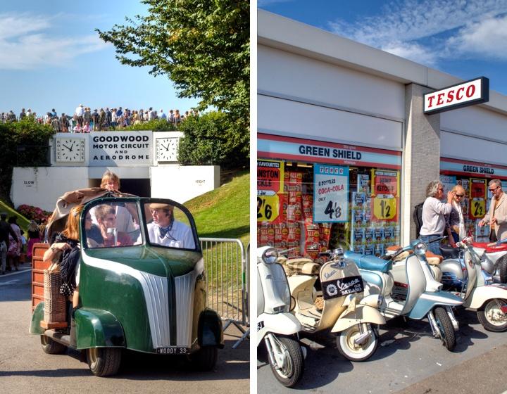 Vintage vehicles at Goodwood