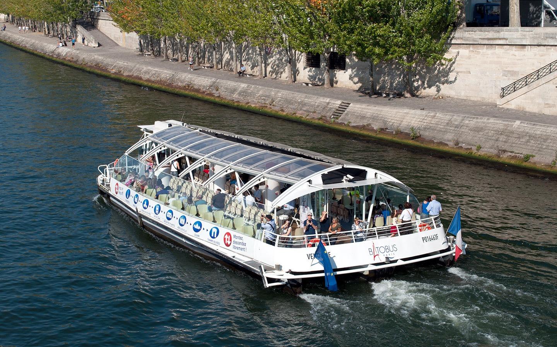 The Batobus boat trips along the Seine, Paris