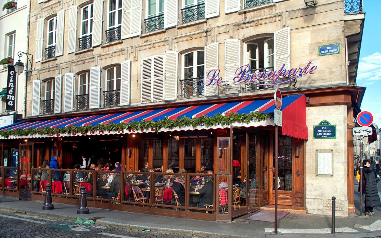 Bonaparte Café in St Germain, Paris' Left Bank