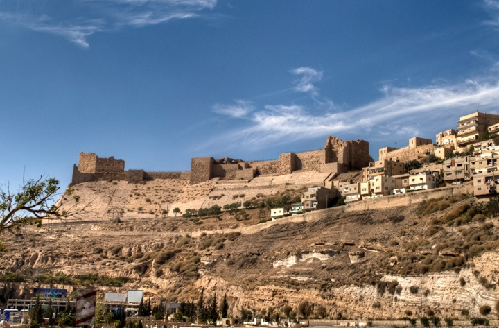 Karak Crusader Castle on the King's Highway, Jordan