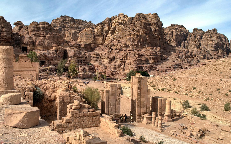 The Colonnaded Street in Petra, Jordan