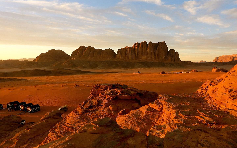Sunset at Wadi Rum in Jordan