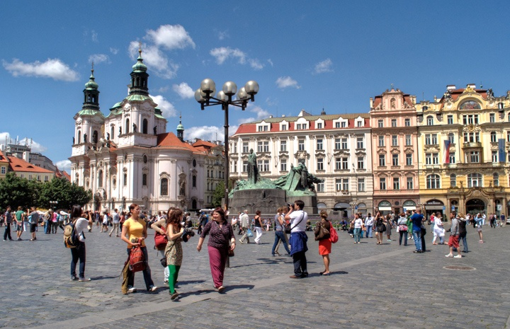 Prague's main square, Czech Republic