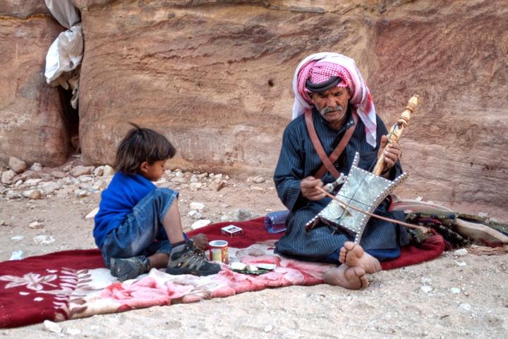 Bedouin musician at Petra, Jordan