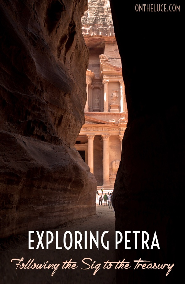 Exploring Petra: Following the Siq to the Treasury  On the Luce travel blog