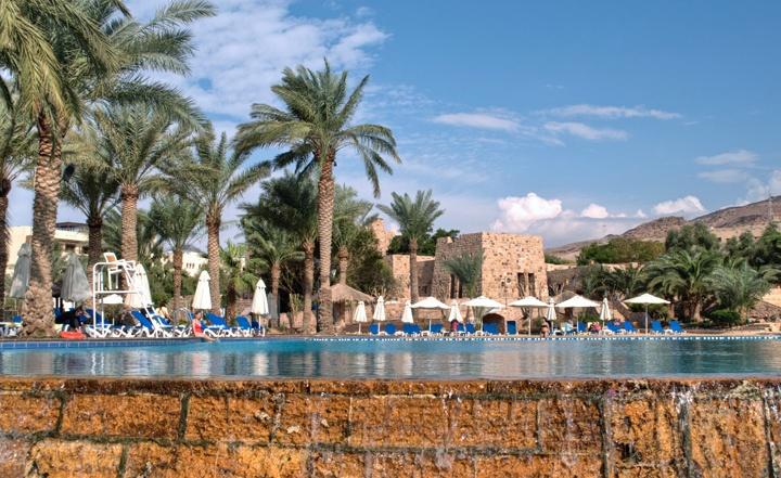 Swimming pool at the five star Movenpick Hotel and Spa Dead Sea, Jordan