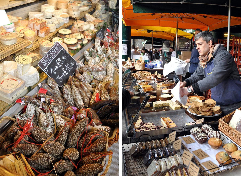 Food stalls at Borough Market