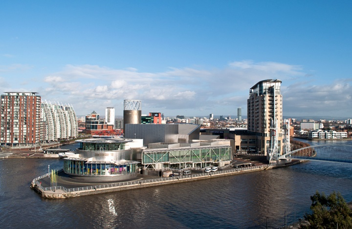 The Lowry Centre in Salford Quays, Manchester