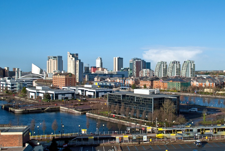 View across Salford Quays, Manchester