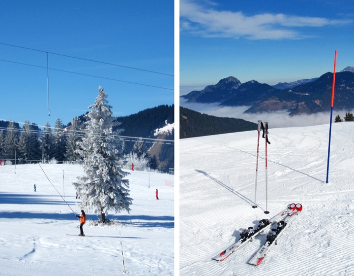 On the slopes in St Jean d'Aulps, French Alps