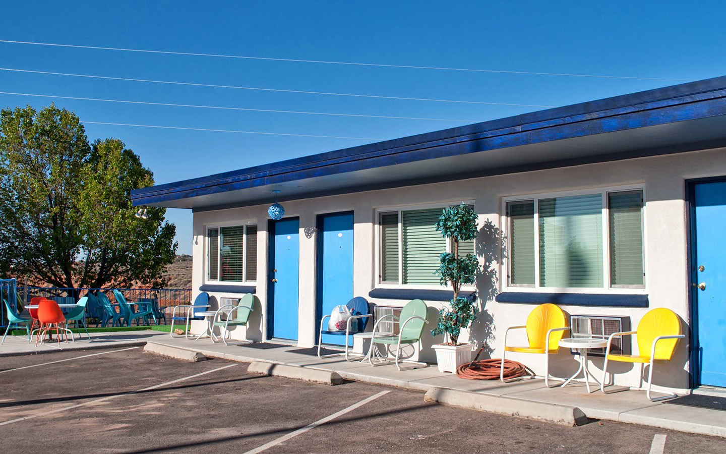 Vintage style motel in the southwest USA