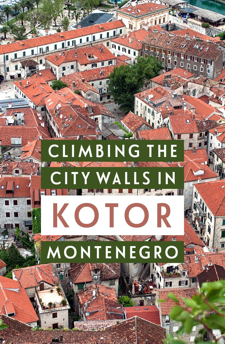 Climbing Kotor city walls in Montenegro in the Balkans, for the best panoramic views across the Bay of Kotor – one of the top things to do in Kotor #Montenegro #Balkans #Kotor #walk