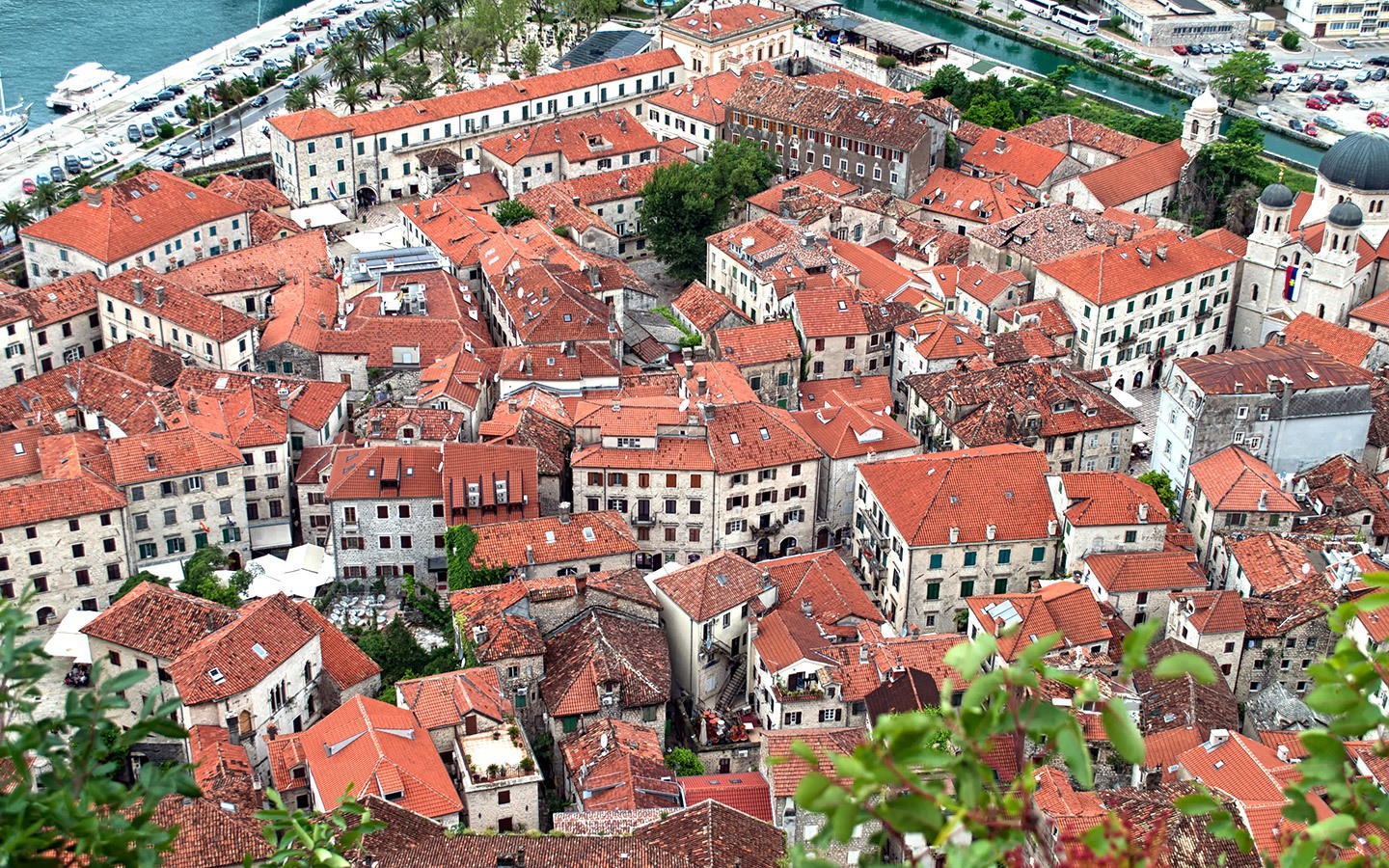 Views down onto Kotor from the city walls
