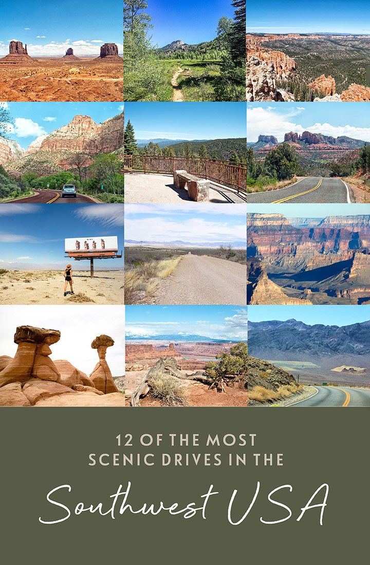 12 of the best southwest USA scenic drives through Arizona, Utah, New Mexico, California and Colorado, with National Parks, snow-capped mountains, red rocks and sandy deserts – a guide to southwest scenic routes to help plan your US road trip | US road trip | Southwest USA scenic drives | Southwest USA road trip | Sputhwest driving routes