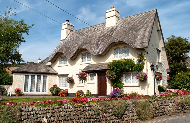 Country cottage in Croyde, Devon, UK