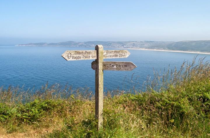The southwest coastal path, Devon, UK