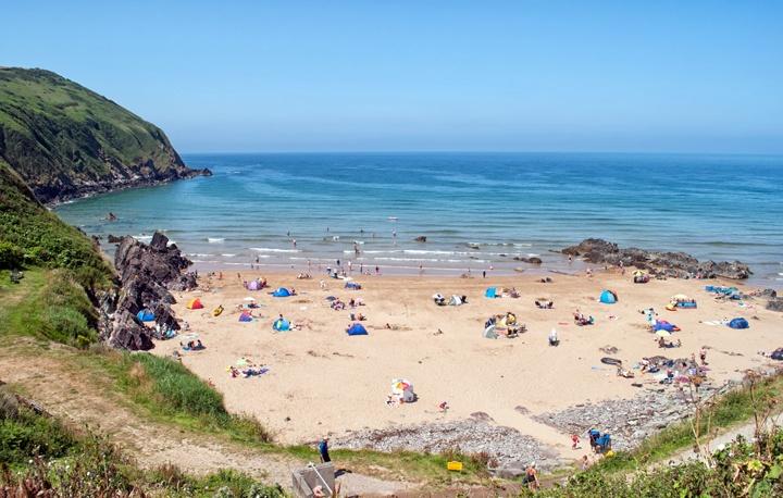 Putsborough beach, Devon, UK