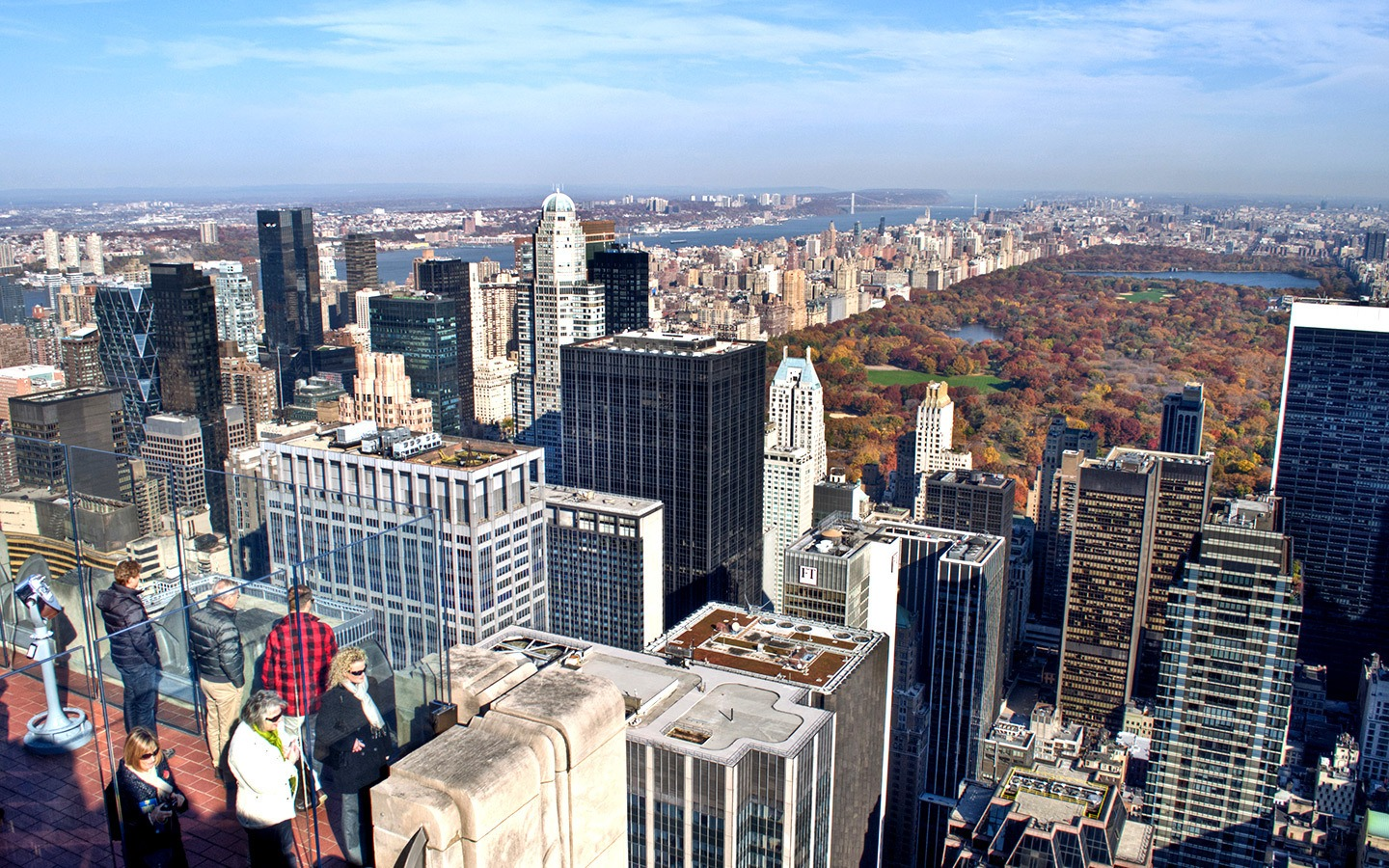 The Top of the Rock viewpoint at New York's Rockefeller Centre