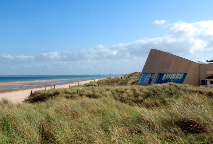 Utah Beach WWII D-Day landing site in Normandy, France