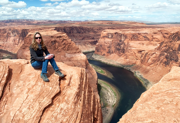 High above the Colorado River at Horseshoe Bend