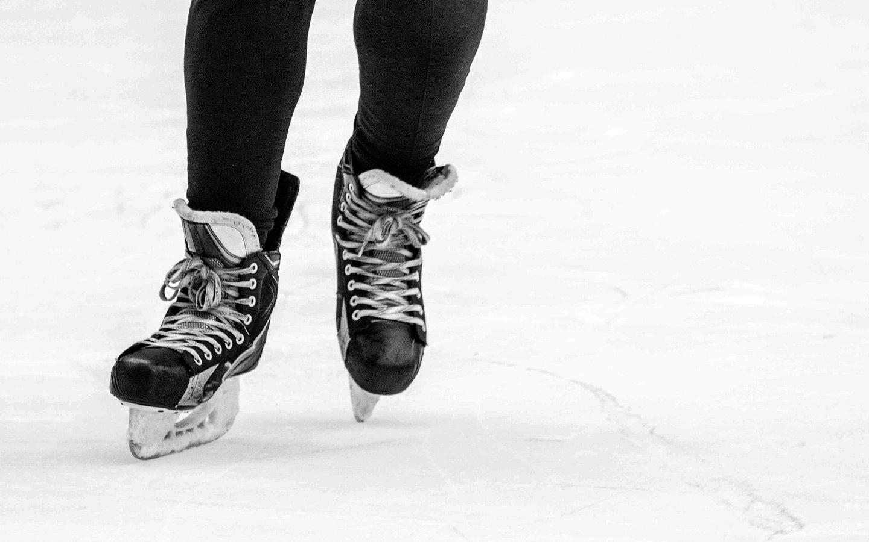 Ice skating in Paris at Christmas