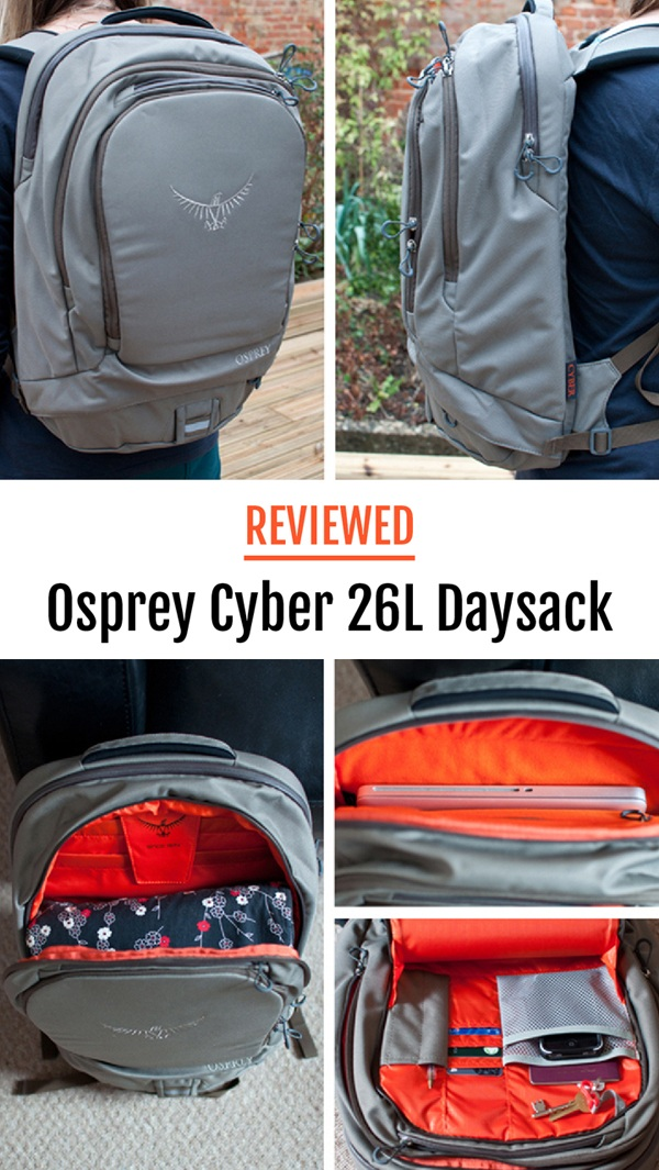 Review of the Osprey Cyber 26L Daysack – one of Osprey's Portal range of bags, designed to transport your technology when you travel.