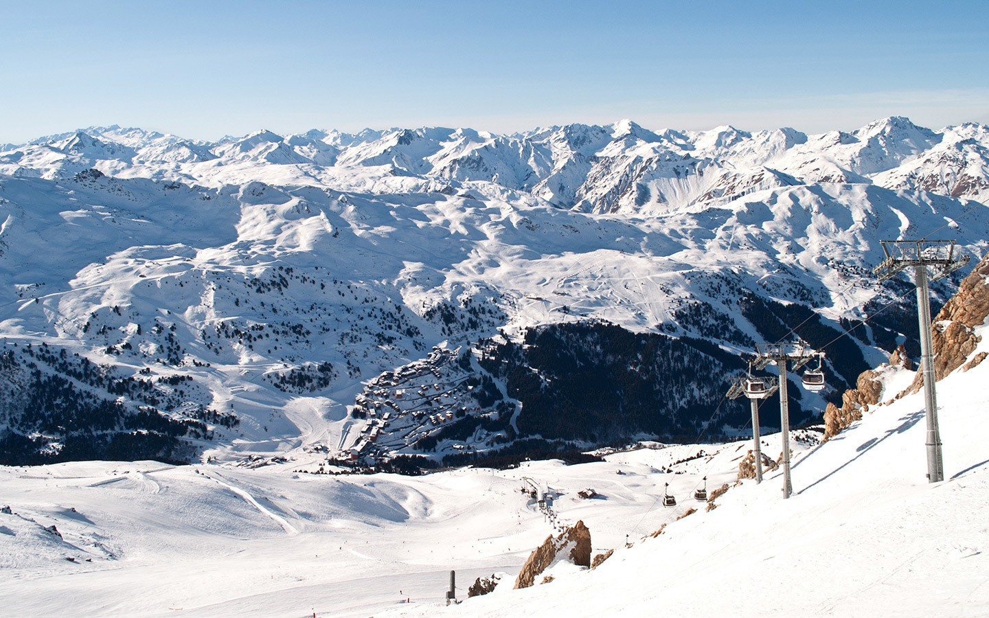 Views from the top of the Saulire lift