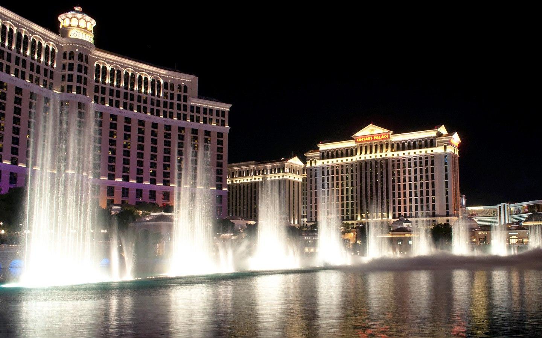 Fountains at the Bellagio casino in Las Vegas, Nevada USA