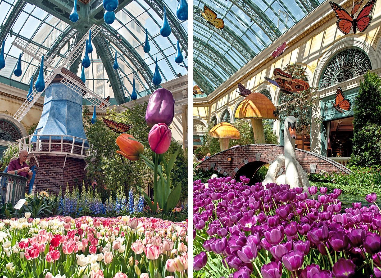 Indoor botanical gardens at the Bellagio casino in Las Vegas, Nevada USA