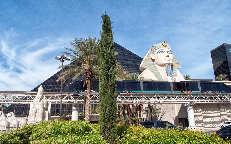 Monorail in Las Vegas, Nevada USA