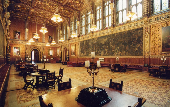 Royal Gallery, Houses of Parliament, London