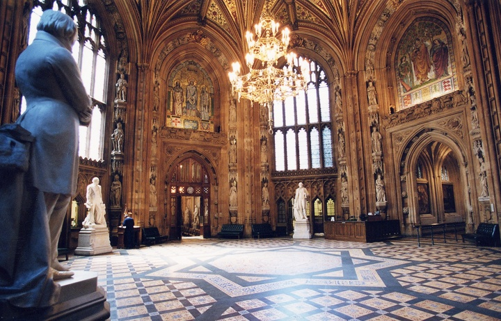 Central Lobby, The Houses of Parliament, London