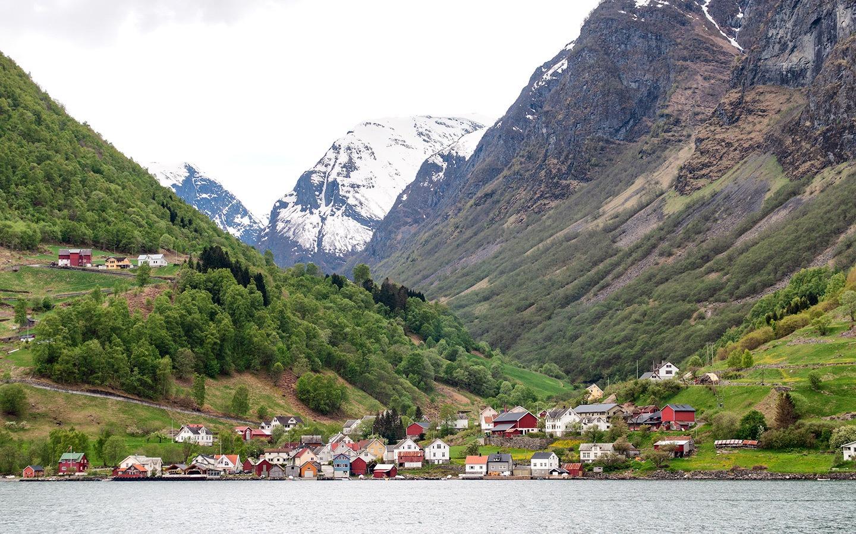 Sognefjord villages on a Norwegian fjords boat trip