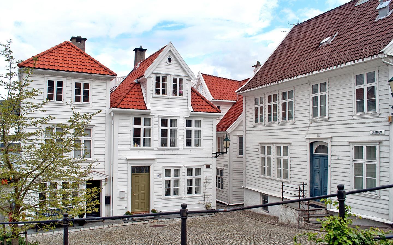 Wooden houses in Bergen Norway